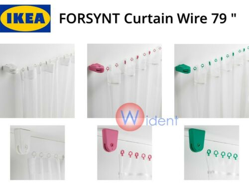 """IKEA FORSYNT Curtain Wire White Pink Green 79 /"""""""