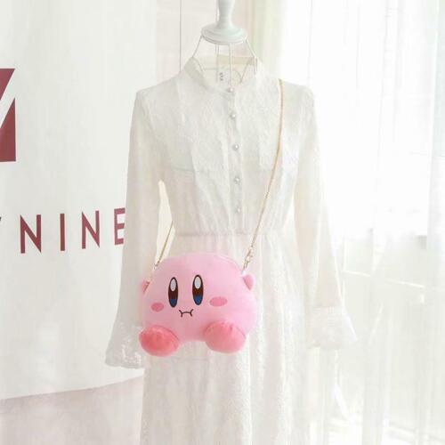 Kirby Super Star Round Plush Chain Shoulder Satchel Kawaii Bag Girl Woman Bag
