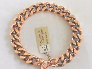 NEW-Solid-Copper-Heavy-Chain-Link-Bracelet-Arthritis-Relief-Folklore