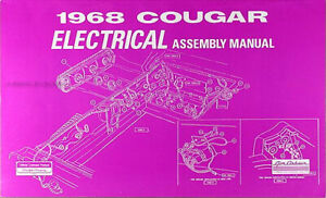 details about 1968 mercury cougar electrical factory assembly manual wiring diagrams 1968 mercury cougar wiring diagram