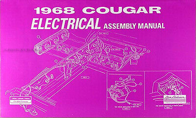1968 Mercury Cougar Electrical Factory Assembly Manual Wiring Diagrams Ebay