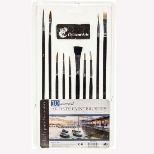 Set acrilico olio dipinto ad Acquerello Arte Craft Modello Nuovo 10 artista Paint Brushes
