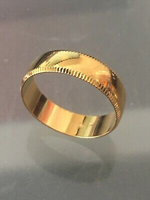 MENS OR WOMENS 18K GOLD CLASSIC WEDDING BAND RING 4.5MM 6MM ROS49 ALL SIZES SALE