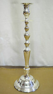 N7776-N-FAVOLOSO-CANDELABRO-1-FIAMMA-in-ARGENTO-SHEFFIELD-COLLECTION