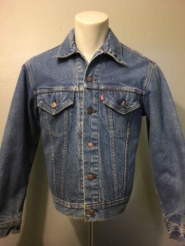 Vtg 1970s 80s Levis 2 Pocket Blue Jean Jacket Mens