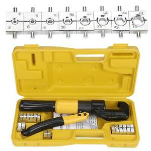 10-Ton-8-Dies-Hydraulic-Crimper-Crimping-Tool-Wire-Battery-Cable-Lug-Terminal