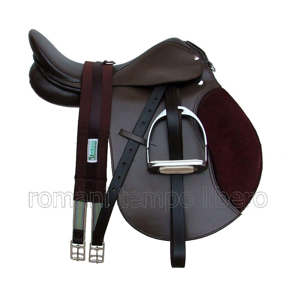 Sella Inglese per cavallo in cuoio e pelle