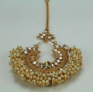Image Is Loading Kundan Wedding Indian Jewelry Women New Maang Tikka
