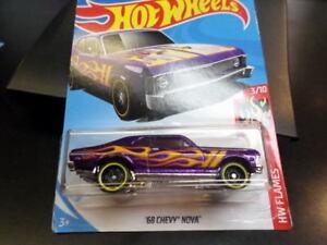 Hw Hot Wheels 2018 Hw Flames 3 10 Custom 68 Chevy Nova Purple