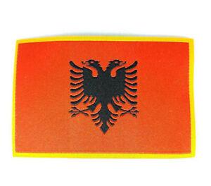 aufnäher gedruckt abzeichen Aufbügel flagge patch fahne albanien