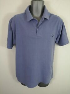 MENS-FRED-PERRY-BLUE-COTTON-SHORT-SLEEVED-FITTED-POLO-SHIRT-TOP-SIZE-MEDIUM-M