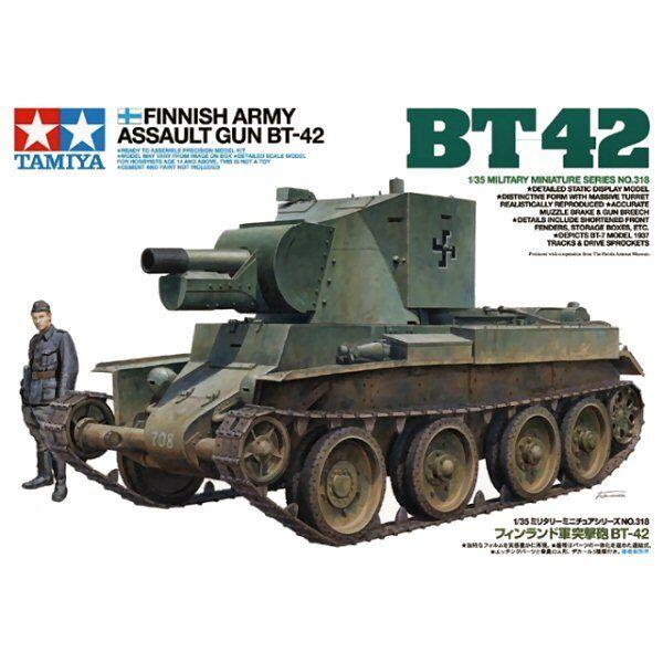 Tamiya 35318 Finnish Army Assault Gun BT42 1 35 scale plastic model kit