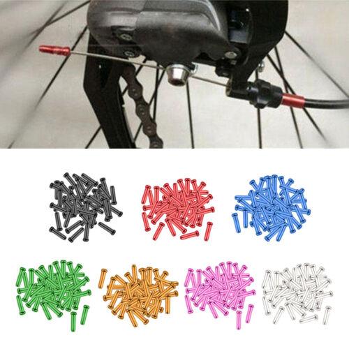 50x langlebige Metall Fahrradbremsschalthebel Endkappen Universal 7 Color
