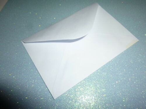 20 Small//Mini Envelopes Ideal for Business Cards White Size 11x7cm