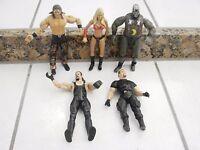 WWE WWF WCW 5 Wrestling Figures Lot 1 girl wrestling figure