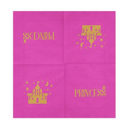 Geburtstags Servietten Princess pink Kindergeburtstag Party Feier Tischdeko