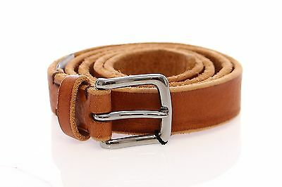 40inch NWT $300 DOLCE /& GABBANA Brown Leather Logo Belt Cintura Gürtel s.100cm