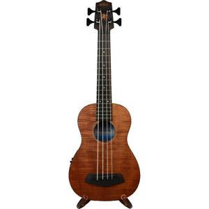 kala ubass em fsrw exotic mahogany u bass ukulele w round wound strings satin 856154005589 ebay. Black Bedroom Furniture Sets. Home Design Ideas