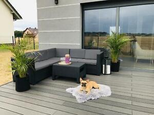 KETER RATTAN Nuovo di Zecca Set giardino tavolo divano ad angolo All'aperto Patio Veranda