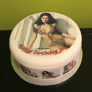 Pleasing Personalised Cake Topper Or Ribbon For Men With Sexy Girl 02 Ebay Funny Birthday Cards Online Fluifree Goldxyz