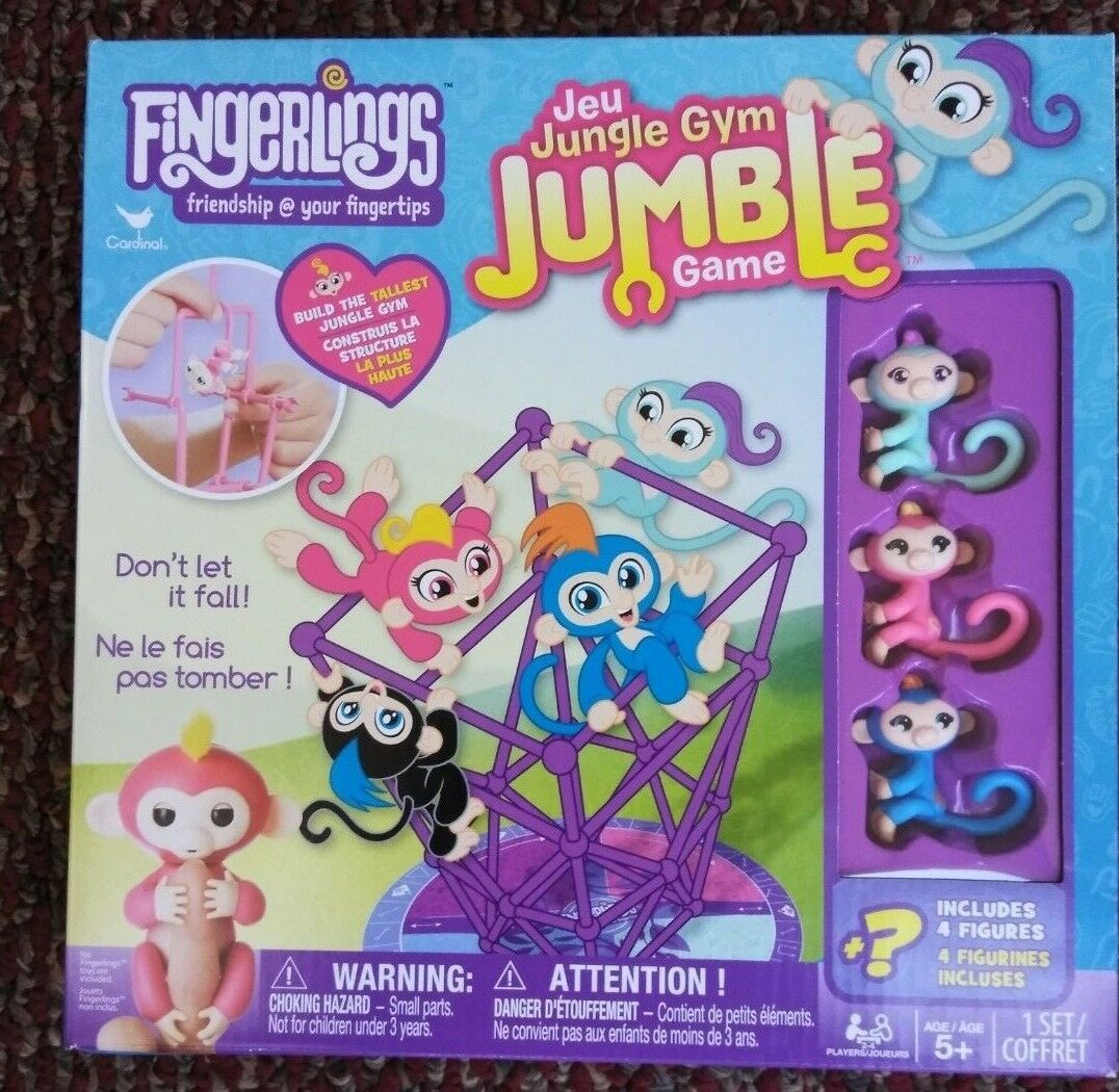 Fingerlings Jungle Gym Jumble Game  3 Minis and 1 Surprise Mini Brand New WowWee