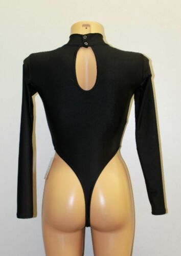 Gennady 130-90 Spandex Women Thong High Collar Leotard Choose Your Color Size