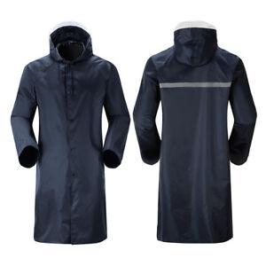 Para-Hombre-Largo-con-Capucha-Abrigo-de-lluvia-ligera-impermeable-Chaqueta-al-Aire-Libre-L-4XL