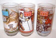 Vintage Star Wars Return Of The Jedi LOT BRAND NEW Glass Coca-Cola Burger King