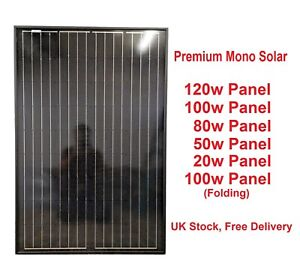 20w-50w-80w-100W-Mono-Solar-Panel-12V-battery-Charge-Car-Caravan-Boat-Home-RV