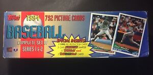 Details About 1994 Topps Factory Sealed Series 12 Complete 792 Baseball Card Set Jeter