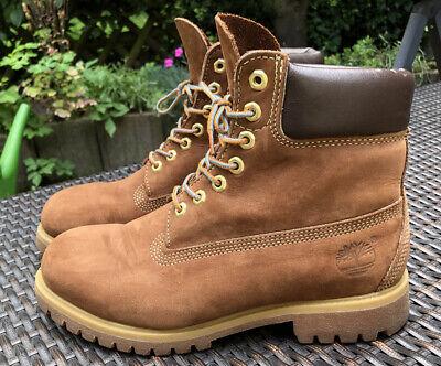Timberland 6 inch Premium Boot Stiefel Rot Braun, Gr. 42 US 8,5 W, gut erhalten!   eBay