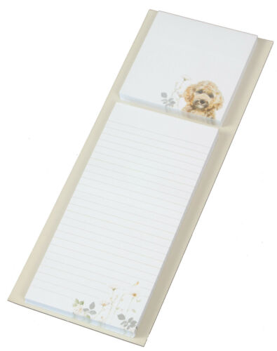 Cockapoo Cockerpoo Breed of Dog Magnetic Notepad Note Memo Pad /& Sticky Notes