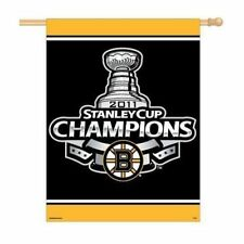 """BOSTON BRUINS 27"""" X 37"""" STANLEY CUP CHAMPS FLAG"""