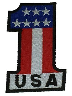STAR SPANGLED USA PATCH RED WHITE BLUE PATRIOTIC UNITED STATES OF AMERICA
