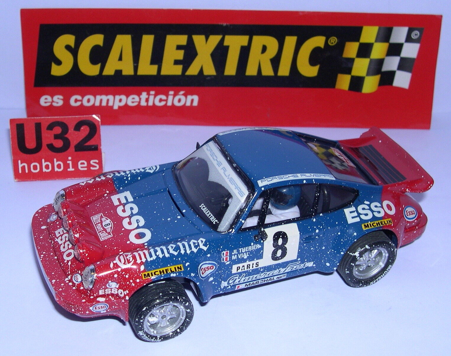 SCALEXTRIC SPAIN ALTAYA RALLYES MYTHICAL PORSCHE 911 ESSO JL.THERIER-M.VIAL