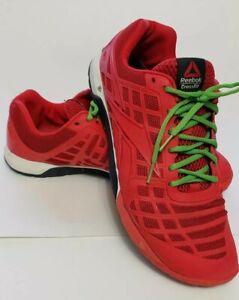 REEBOK CROSSFIT CF74 Mens Shoes Size 6 Black Neon Green