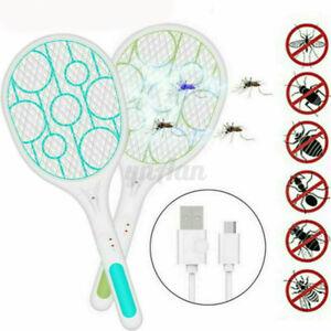 USB-Charging-LED-Elettrica-Insetti-Racket-Swatter-Zattera-Mosquito-Zapper-Killer