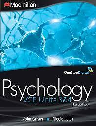 1 of 1 - Macmillan VCE Psychology Units 3 and 4  By Grivas  ISBN 9781420232172
