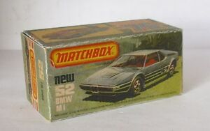 Repro Box Matchbox Superfast Nr.52 BMW M 1