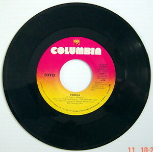 ONE-1988-039-S-45-R-P-M-RECORD-TOTO-PAMELA-THE-SEVENTH-ONE