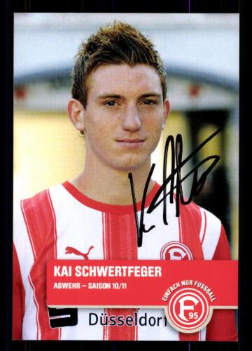 Kai Schwertfeger Autogrammkarte Fortuna Düsseldorf 2010-11 Original Sig+A 126716
