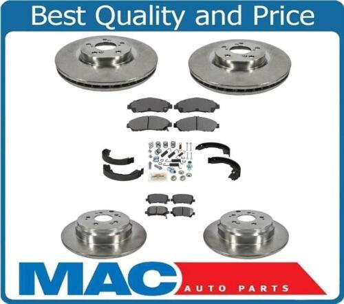 F /& R Brake Rotors /& Ceramic Pads  For 07-13 MDX 10-13 ZDX 09-11 Pilot 8pc