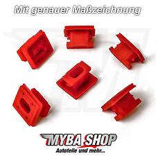 10x BMW 3er 7er X3 Befestigung Zierleiste Klemme Armaturenbrett 51458266814 Rot