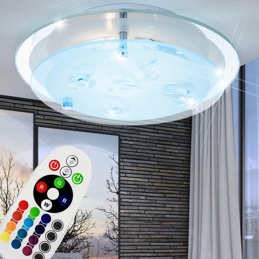 RGB Led Led Led Lampada da Soffitto Cristallo Telecomando Dormire Camera Vetro 8a9a8e