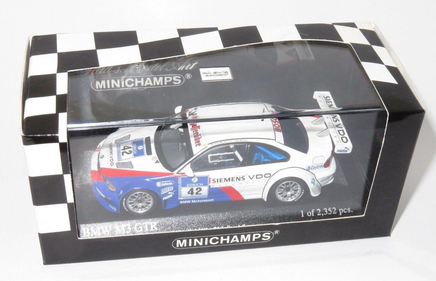 BMW M3 GTR ADAC 24 ore vincitori 2004 Muller Muller Bloccato Lamy
