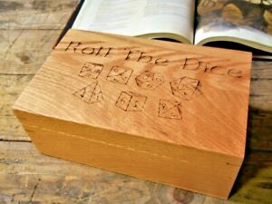 Roll-The-Dice-Oak-Dice-Box-Dungeons-amp-Dragon-Table-Top-Gaming-RPG