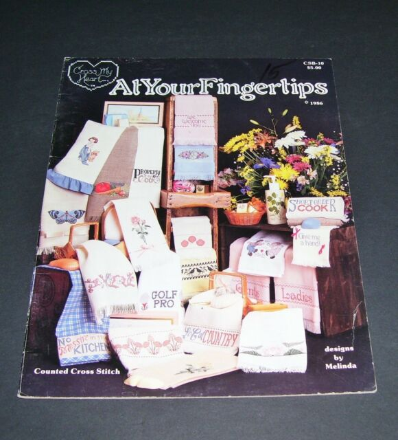 CROSS MY HEART COUNTED CROSS STITCH LEAFLET PATTERN BOOK AT YOUR FINGERTIPS 1986