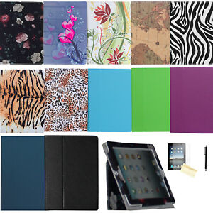 Dual-Fold-Folio-Leather-Case-Magnetic-Smart-Cover-Stand-For-iPad-2-3-4-Air-9-7