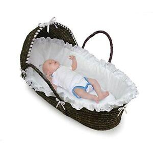 Canasta Para Bebe Recien Nacido.Details About Canastilla Para Bebes Recien Nacidos Cesta Con Cubierta Removible