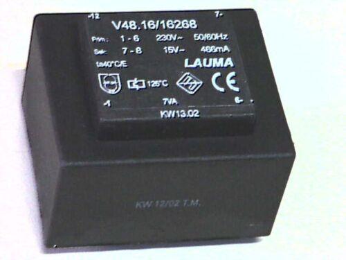 230V sek 15V 7VA Lauma V48.16//16268 Transformer Transformator Printtrafo prim